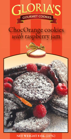 ChocOrange cookies with Raspberry Jam